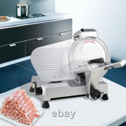 10 Blade Commercial Meat Slicer Deli Cheese Food 530RPM Electric Cutter Ki