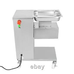 110V 500KG Meat Cutter Slicer Meat Cutting Machine with 2.5-50mm Two Blade