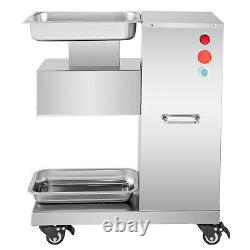 110V 500KG Output Meat Cutting Machine Meat Cutter Slicer with Blade 750W