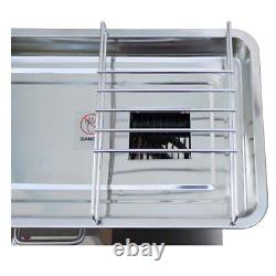 110V 500W QX Commercial Meat Slicer/Cutter Machine with 10mm Blade Free Shipping