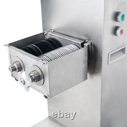 110V 500kg/h Meat Slicer Meat Cutting Machine Stainless Steel with 8mm Blade