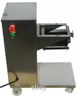 110V Commercial Meat Slicer with 3mm Blade Stainless Steel Cutting Tool CA Stock