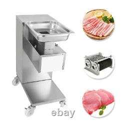 110V Meat Cutting Machine Meat Slicer 500KG Output Cutter Heavy Duty with 2 Blades