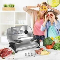 150W Deli Food Meat Slicer Electric with Removable 7.5 Stainless Steel Blade