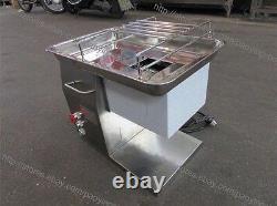 250KG/H S/S 2.5-25mm Blade Electric Fresh Meat Slicer Cutter Processing Machine