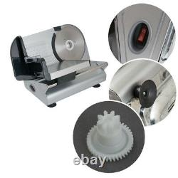 7.5 Electric Meat Slicer Steel Blade Bread Cheese Cutter Deli Food Machine 150W