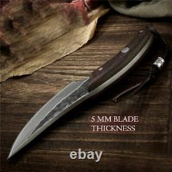 9.5 Outdoor Camping Butcher CHEF Knife Fixed Blade Handmade Sharp BBQ Knives