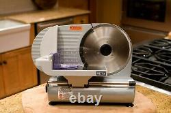 9 In Commercial Stainless Steel Blade Electric Meat Slicer Food Cutter Kitchen