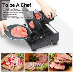 CUSIMAX Meat Slicer 200W Electric Deli Food with 7.5 Removable Stainless Blade