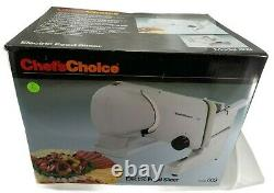 Chef's Choice 609 Electric Meat Slicer with Stainless Steel Blade Features