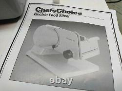 Chefs Choice Electric Food Slicer Deli Meat Food Processor