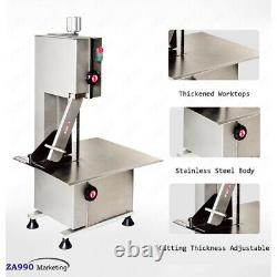 Commercial 950W Electric Bone Saw Cutter Frozen Meat Slicer Machine With Blades