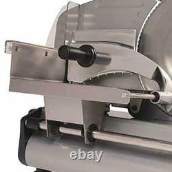 Commercial Electric Blade Kitchen Food Slicer Adjustable Stainless Steel 180 W