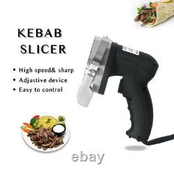 Commercial Electric Kebab Slicer Meat Shawarma Doner Cutter Machine 2 Blade CE