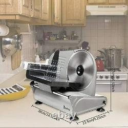 Commercial Electric Meat Slicer 7.5'' Blade 150W Home Kitchen Meat Food Cutter