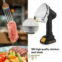 Cordless Electric Kebab Cutter Slicer Meat Knife Cutting Machine with 2 Blades