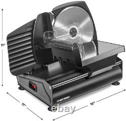Electric Deli Food Slicer Meat Cheese Bread Fruit Veggie Cutter Stainless Blade