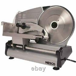 Electric Deli Meat Slicer Cutter Blade Food Cheese Beef Sliding Heavy Steel New