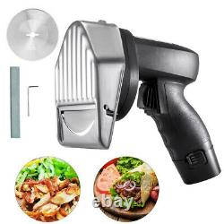 Electric Doner Kebab Slicer Cutter Meat Knife Kitchen Cutting Supply with 2 Blade