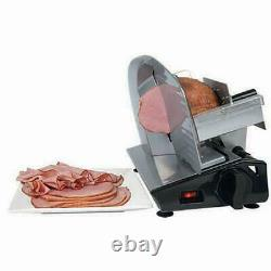 Electric Food Meat Cheese Beef Jerky Slicer Cutter Blade Sliding Heavy Steel NEW