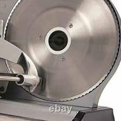 Electric Food Meat Cheese Slicer Cutter 8.7 Inch Blade Sliding Heavy Steel 180 W