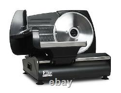 Electric Food Slicer Deli Slice Meat Cheese Stainless Steel Blade Cutter Kitchen