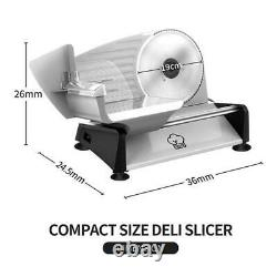 Electric Food Slicer Meat Cheese Bread Cutting Machine Cutter Deli Professional