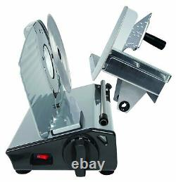 Electric Meat Cheese Slicer Food Cutter 8.7 Inch Blade Sliding Cut Heavy Steel