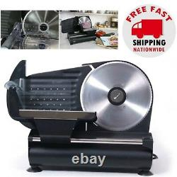 Electric Meat Food Slicer Deli Cheese Cutter Home Kitchen Cooks Steel 7.5 Blade
