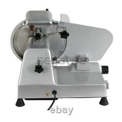 Electric Meat Slicer Stainless Steel 10'' Blade Bread Cutter Deli Food