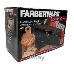 Farberware FMS100 Electric Slicer for Meat Cheese Vegetables Bread Steel Blade