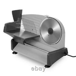 Food Slicer Electric Meat with 7.5in Removable Stainless Steel Blade Pusher
