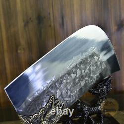 Handemade Forged Kitchen Chopping Chef Knife Fixed Blade Sharp Meat Cleaver