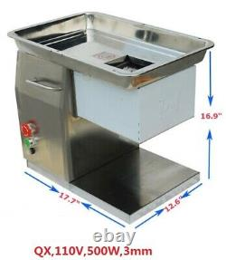 High Quality 110V Stailess Steel Commercial Meat Slicer with 3mm Blade USA Ship