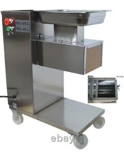 INTBUYING 110V QE Meat Cutter Slicer Meat Cutting Machine with 5mm Blade 500KG/H