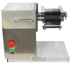 Kitchen Meat Cutter! 110V Stainless Commercial Meat Slicer with 5mm Blade QX 550W
