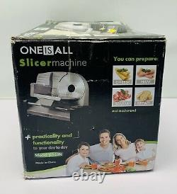 Meat Slicer, 200W Electric Food Slicer with Two blades