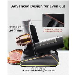 Meat Slicer, Adortec Electric Deli Food Slicers with Extra Stainless Steel Blade