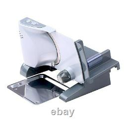 Meat Slicer Electric Deli Food Safety Lock Button Stainless Steel Serrated Blade