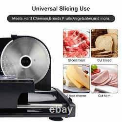 Meat Slicer Electric Deli Food Slicer with Removable Stainless Steel Blade
