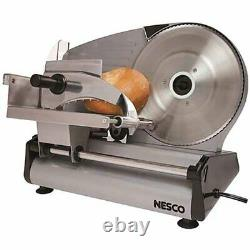 Nesco Commercial Home Electric Meat Cheese Food Slicer Detachable 8.7 Blade New