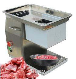 QX 110V 550W Commercial Stainless Meat Slicer Machine with 10mm Blade USA Stock