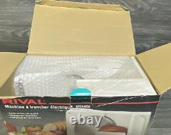 Rival Fold Up Electric Food Slicer for Meat Cheese & More Model 1042 White NOS