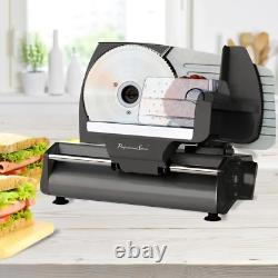 Stainless Steel Meat Slicer Serrated Blade Durable Sturdy Face Thick Adjuster Kn