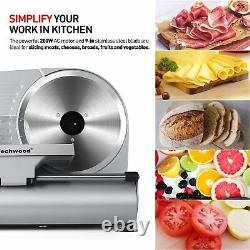Techwood Commercial Electric Meat Slicer 9 Blade 240w 530 rpm Deli Food cutter