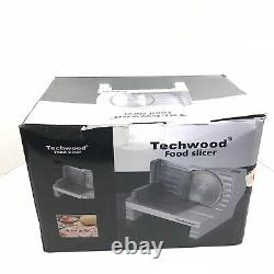 Techwood Electric Meat Slicer Commercial Home Deli Food Stainless Steel Blade