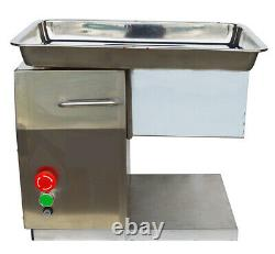 US Sale! QX Stainless Commercial Meat Slicer with 6mm Blade 110V 550W #160491
