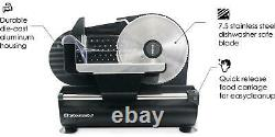 Ultimate Precision Electric Deli Food/Meat Slicer with Stainless Steel Blade
