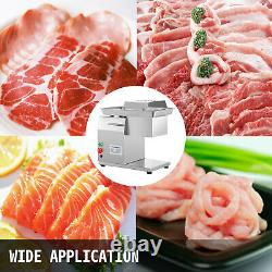 VEVOR Commercial Meat Cutting Machine 550lbs/h Electric Meat Slicer with 3mm Blade