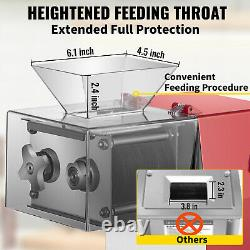 VEVOR Meat Cutting Machine Electric Meat Cutter Slicer Dicer 551Lbs/H 10mm Blade